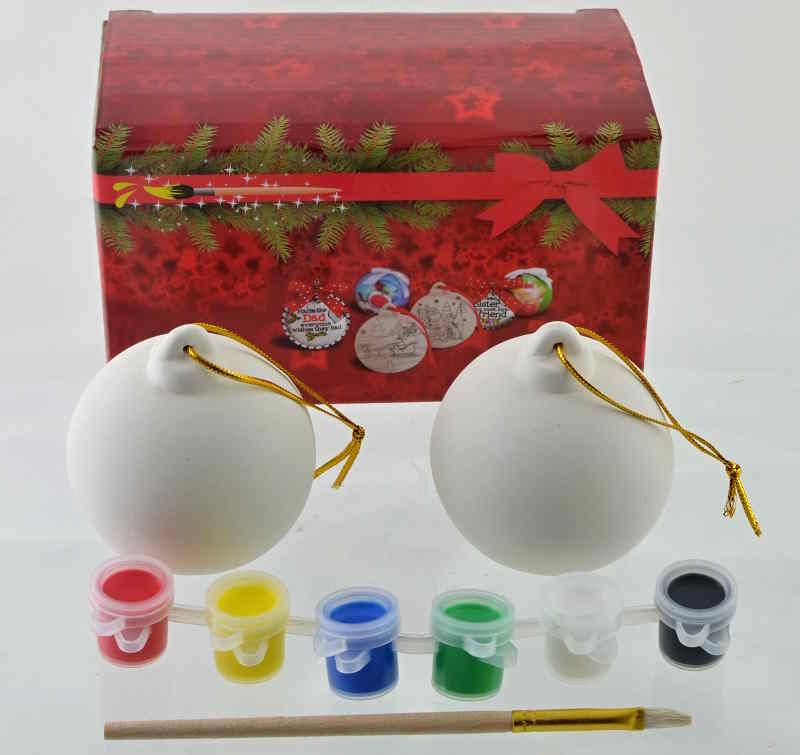 Vianočné gule na maľovanie