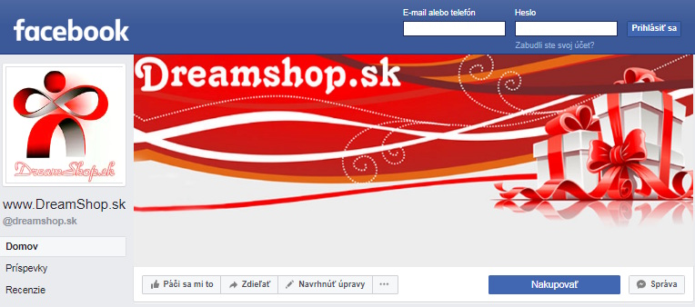 Facebook Dreamshop.