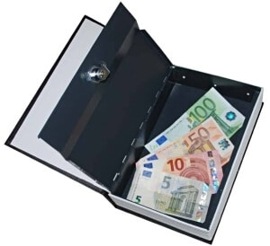 Kniha - trezor na peniaze
